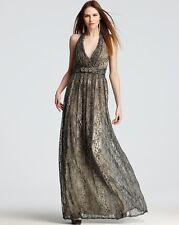 David Meister Snake Print Elegant Halter Gown Dress.NWT Sz.10