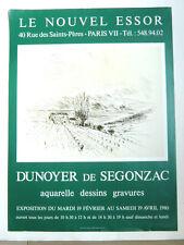 Affiche originale DUNOYER DE SEGONZAC Paysage Montagne Sud 1980