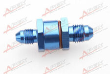 4AN Male To 4AN Male High Flow Billet Turbo Oil Feed Line Filter 150 Micron Blue
