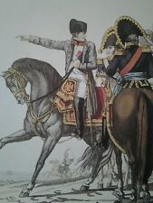 VINTAGE PRINT NAPOLEON'S FRENCH ARMY ~ NAPOLEON I EMPEROR & KING with MARSHALS