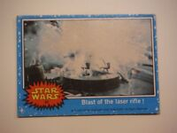 Star Wars Series 1 (Blue) Topps 1977 Trading Card # 36 Blast of the Laser Rifle