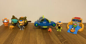 Octonauts Bundle Complete Gup Q With Working Lights, Gup M, Mini Racer Gup G & H