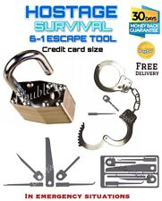 EDC 6 - 1  Wilderness Hostage Escape Tool Credit Card Size *FREE DELIVERY