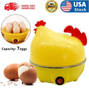 USA Electric Egg Cooker Boiler 7 Egg Steamer Non Stick Hard Boiled Auto-Off