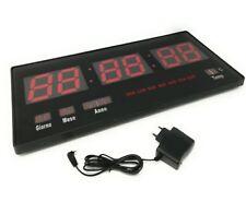 Orologio Digitale A Led Da Parete Con Datario E Termostato Slim Data Temperatura