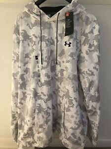 Under Armour Men's Long Sleeves Hoody 3XL White/Gray Makes You Better NWT