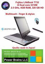 Fujitsu LifeBook T732 i5 3510M Multitouch, 4GB 320GB HD  USB3.0 HDMI Linux