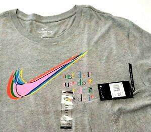 Nike Men's 4xlt 4xl Tall Gray Pink T Shirt Standard Fit Long Sleeve NWT 10-19212