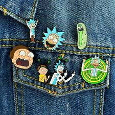 More details for rick and morty pins set of 6 enamel pin badges great collection