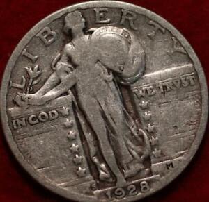 1928-S San Francisco Mint Silver Standing Liberty Quarter