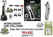 Wahl FIGURA Lithium CORDLESS Pet Clipper KIT w/TWO  5 in 1 BLADES,GUIDE COMB SET