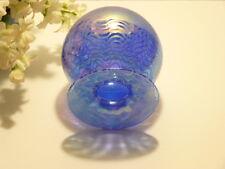 "Fabulous Vintage GLASS EYE STUDIO 5"" Iridescent BLUE WAVE VASE Raspberry, SIGNED"