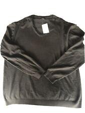 Jersey de cuello en V Negro Nexy XXL