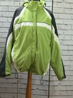 Women's Green Grey White Hooded Columbia Ski Jacket Size  X Large