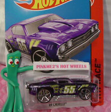 Case P 2015 Hot Wheels '69 CHEVELLE #140∞Trans Purple Chevy; oh5; 55∞X-Raycer