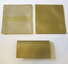1 NEW VINYL GOLD CHECKBOOK COVER WITH DUPLICATE FLAP CHECK BOOK COVERS