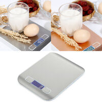 Portable Electronic 5/10kg Scale Kitchen Flour Baking Cooking Weighing Tool Effi