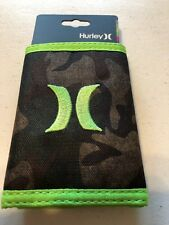 New Hurley Honor Roll Tri-Fold Wallet Camo Printed H1J003238NS