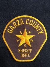 GARZA COUNTY TEXAS SHERIFF DEPT. POLICE PATCH--B03
