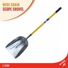 Aluminum Wide Scope Shovel Grain Shovel Hay Food Shovel Fiberglass Handle 160cm
