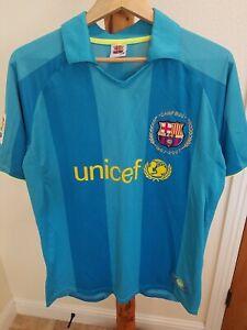 Barcelona Football Club FCB Soccer Jersey polo shirt 2X Large Camp NOU UNICEF 24