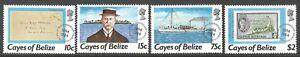 CAYES OF BELIZE :1984 Postal Anniversary set  SCOTT 18/21 MNH