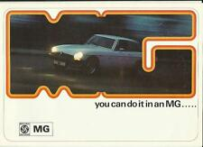 MG MIDGET MK III, MGB, MGB GT & V8 SALES BROCHURE  FEBRUARY 1975