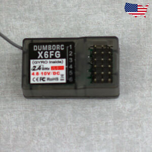 DumboRC X6FG 2.4 Receiver with Gyro for RC X6 Transmitter Remote Controller