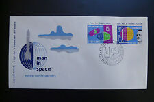 first man in space Vostok mission Yuri Gagarin Alan Shepard FDC 1961 Suriname