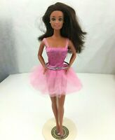 1990 Mattel Twist N Turn Ballerina Barbie Doll Rooted Brunette Hair