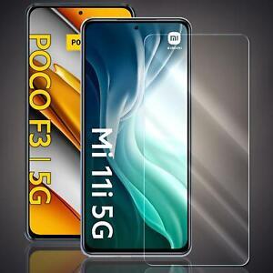 Panzer Folie für Xiaomi Poco F3 / Mi 11i Echt Glas Schutzfolie Schutz Folie 9H