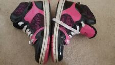 Womens Girls Pastry Glam Pie Black Pink Hi-Top Trainers  UK5/US6 used pics