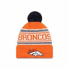 NFL Denver Broncos New Era Orange/White/Blue Toasty Cover Knit With Pom