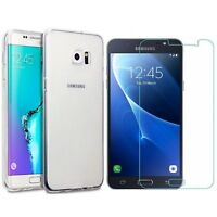 Clear Case Cover for Samsung Galaxy Note 2 3 4 5 edge & glass screen protector
