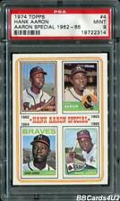 1974 Topps #4 HANK AARON SPECIAL 62-65 PSA 9 MINT Braves