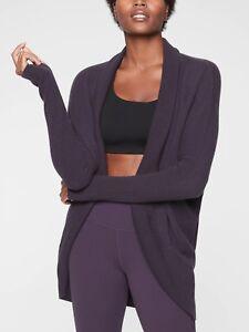 NWT Athleta Finale Wool Cashmere Wrap, Regal Plum SIZE XS         #383976 N0819