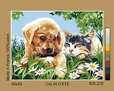 SEG de Paris Tapisserie/toile tapisserie à l'aiguille – été Amis (Canin d'été)