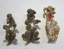 Vintage Poodle Pins Set Of Three
