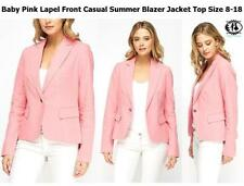 Waist Length V-Neckline Blazer Coats & Jackets for Women