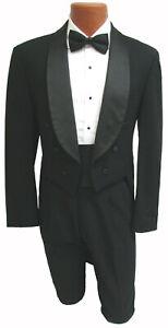 Boys Dior Black Tuxedo Tailcoat Long Tails Wedding Dance Formal Boys Size 12
