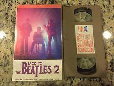 BACK TO THE BEATLES 2 SING ALONG KARAOKE VERY RARE JAPANESE JAPAN VHS CLASSICS!