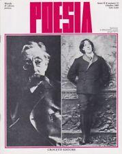 Poesia, Crocetti, 1989, rivista letteraria, anno II n. 10, Valery, Lucrezio, Loi