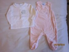 New With Tags - Baby Girls Dungaree & Top Set -3mths Colin & Colline  Vertbaudet