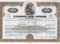 1978 *** UNITED AIR LINES    * AZIONE ORIGINALE STORICA DELL'AVIAZIONE USA
