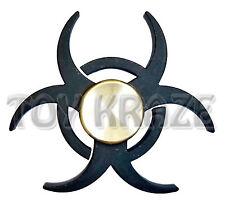 ANTI ANXIETY 360 FIDGET SPINNER! FOCUS BLACK METAL ADULTS KIDS NEW [BIO HAZARD]