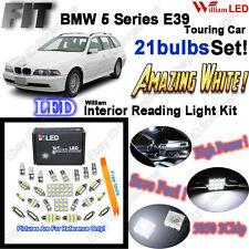 21bulbs Xenon White LED Interior Light Kit For BMW 5 Series E39 Wagon Error Free