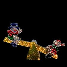Animated Snowman Outdoor Lawn Christmas Decoration Lighted Pre-Lit Lawn Decor