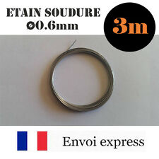 3m de Fil Etain pour soudure -avec flux - 60% étain (électronique, fer à souder)