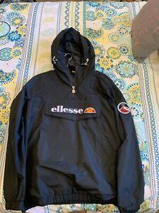 BNWOT Ellesse Mont 2 Anorak Jacket Black Size L RRP$150