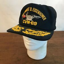 USS Dwight D. Eisenhower CVN-69 Black Snapback Hat USA (CH8)